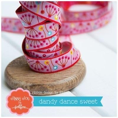 Farbenmix Webband Dandy Dance rosa