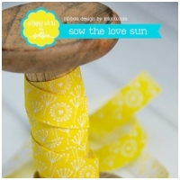 Farbenmix Webband Sow the Love sun