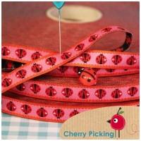 Farbenmix Webband Ladybird rosa