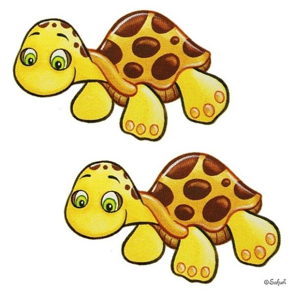 Safuri Bügelbild 2x Schildkröte