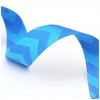 Farbenmix Webband Chevron blau