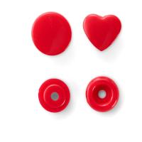 Prym Color Snaps in Herzform, Rot B1, 30 Stk.