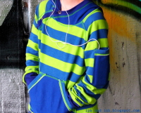 GONZALO Jungs Hoodie Farbenmix Schnittmuster