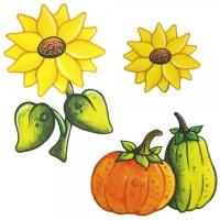 Safuri Bügelbild Sonnenblume & Kürbis