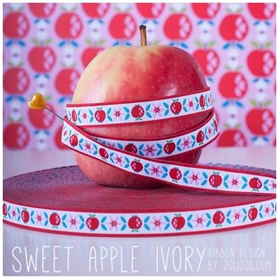 Farbenmix Webband Sweet Apple Ivory