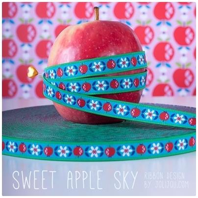 Farbenmix Webband Sweet Apple Sky