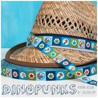 Farbenmix Webband Dinopunks
