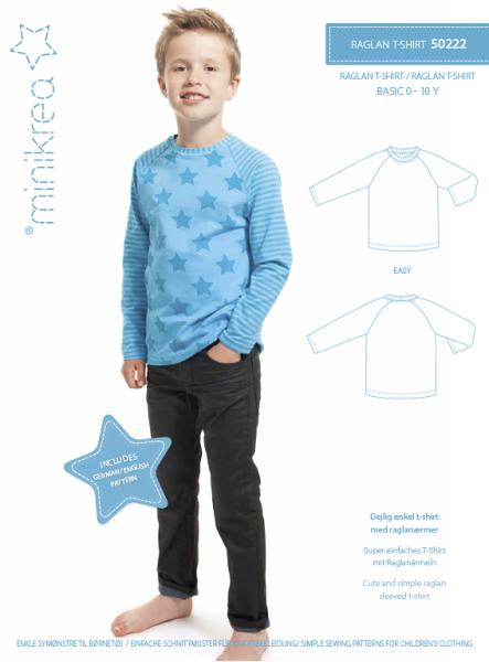 Raglan Shirt Minikrea Schnittmuster