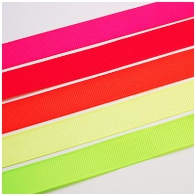 Repsband uni, 16mm breit, neongrün
