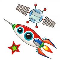 Safuri Bügelbild Set Rakete, Satellit, Stern