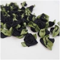 Satin Rose schwarz