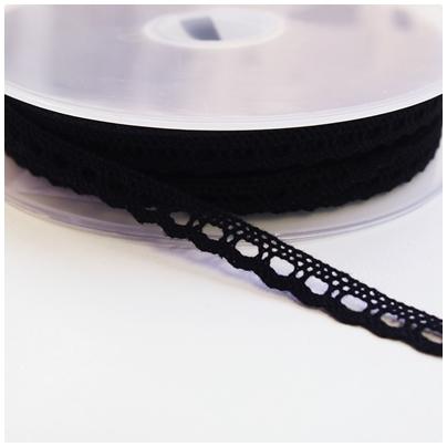 Klöppelspitze 8mm schwarz
