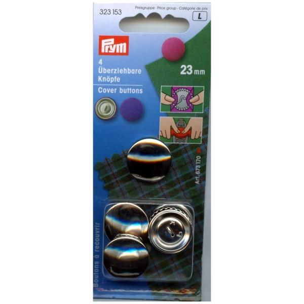 Prym 4 Stk. überziehbare Knöpfe, 23mm