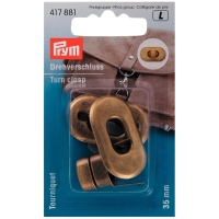 Prym Drehverschluss, 35mm, altmessing