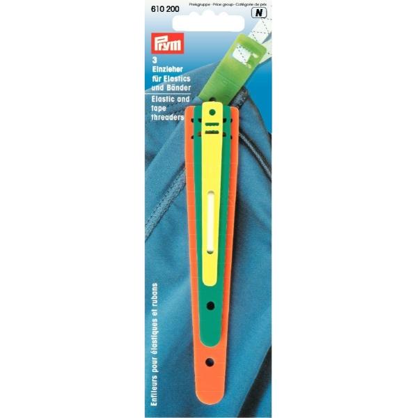 Prym 3 Einzieher für Elastics und Bänder
