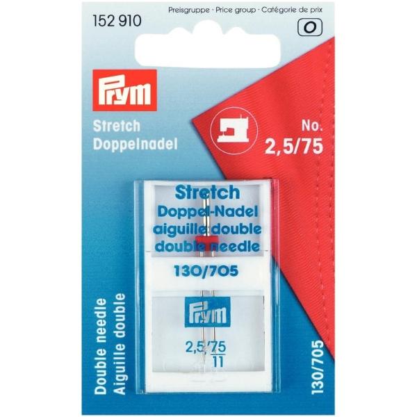Prym Stretch Zwillingsnadel 2,5 mm 75/11