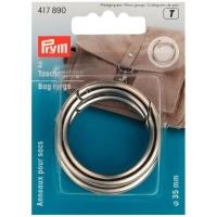 Prym Taschenringe, silber, 35mm