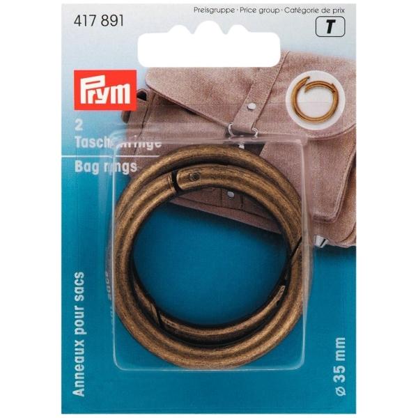Prym Taschenringe, altmessing, 35mm