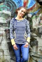 Lady ROSE Damenshirt Farbenmix Schnittmuster