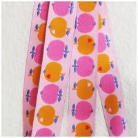 Farbenmix Webband byGraziela Apfel pink-orange