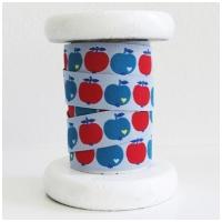 Farbenmix Webband byGraziela Apfel blau-rot