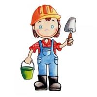 Safuri Bügelbild Bauarbeiter